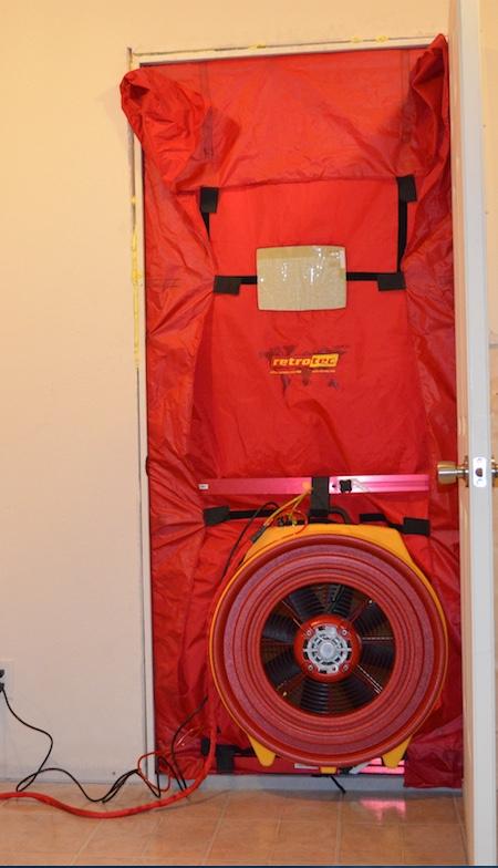 retrotec blower doors web patch goes on velcro. Black Bedroom Furniture Sets. Home Design Ideas